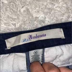 ambroisa Jeans - Sailor Button Dark Flare Jeans